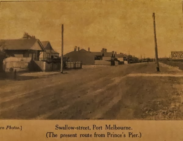 Route to Princes Pier, Swallow St