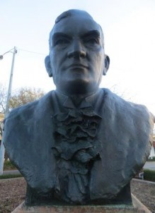 George Walter bust in Bay St