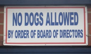 No dogs allowed at North Port Oval.