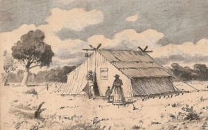 The tent in which the first service at Sandridge was held