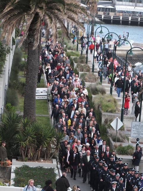 Procession to Princes Pier Image: Ron Cassano