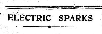 Electric Sparks banner from Port Melbourne Standard newspaper