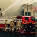 Fire at Port Theatre, Bay Street, Port Melbourne Sunday 30 August 2015 - Courtesy MFB Facebook Page