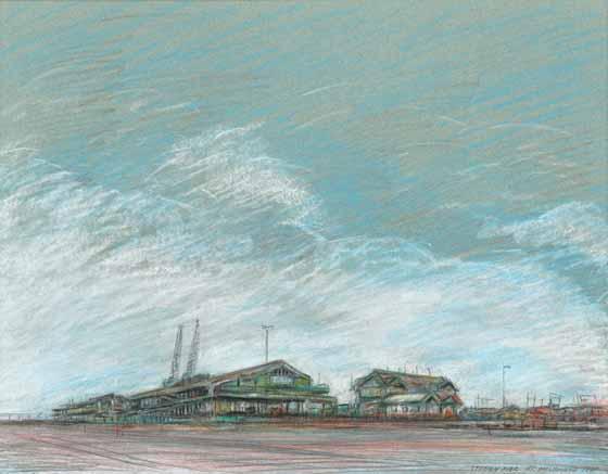 Station Pier, Pt Melbourne, 1991 by Brian Cleveland