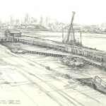 Disused Excursion Pier, Station Pier, Port Melbourne, Nov 1992 by Brian Cleveland