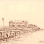 Princes Pier, Port Melbourne, April 1992 by Brian Cleveland