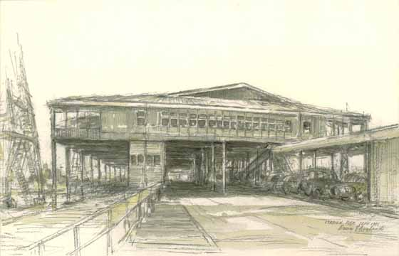 Station Pier, Sept 1991 by Brian Cleveland