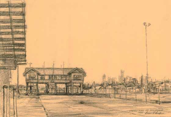 Station Pier, Pt Melbourne, 1992 by Brian Cleveland
