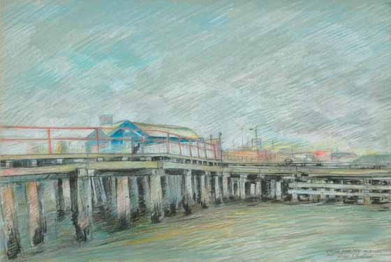 Station Pier, Port Melbourne, 1992 by Brian Cleveland