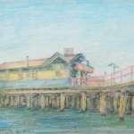 Old Kiosk, Station Pier, Pt Melb by Brian Cleveland