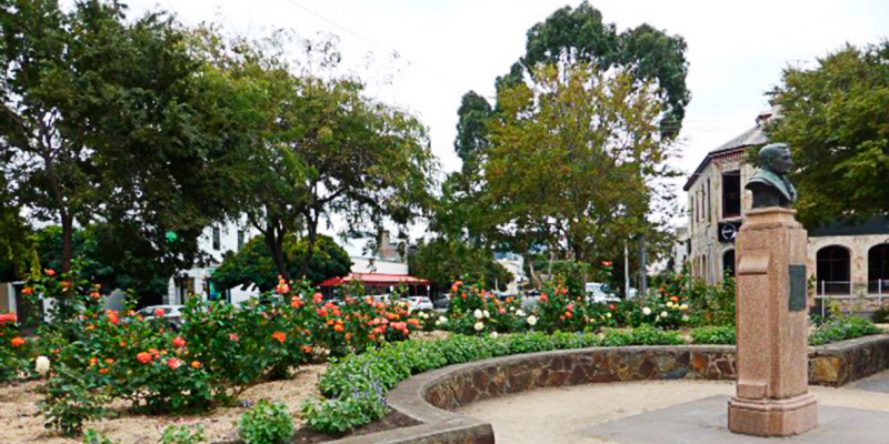 George Samuel Walter Memorial Garden after refurbishment, 29 March 2016.