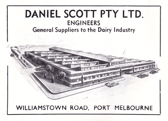 Daniel Scott Pty Ltd advertisement from Greater Port Melbourne 1939 Centenary Souvenir