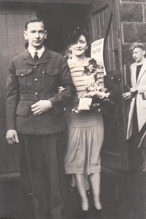 The marriage of Robert Kilpatrick and Bette Jago at St Joseph's Church, 1943