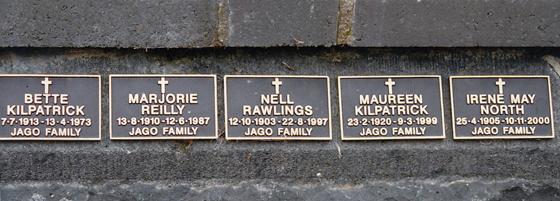 Remembrance Wall, St Joseph's Church, Port Melbourne