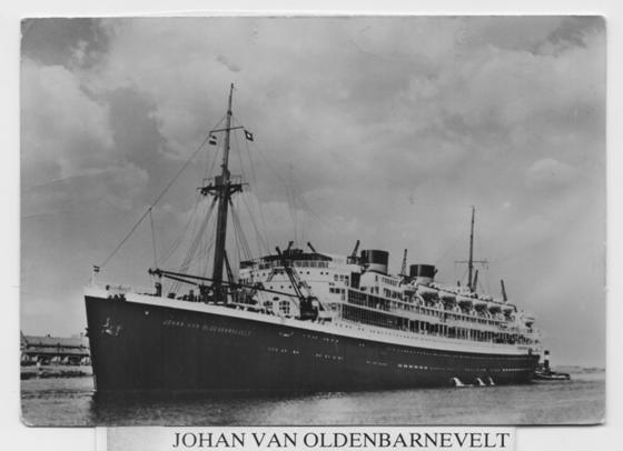 Postcard showing the Johan van Oldenbarnevelt