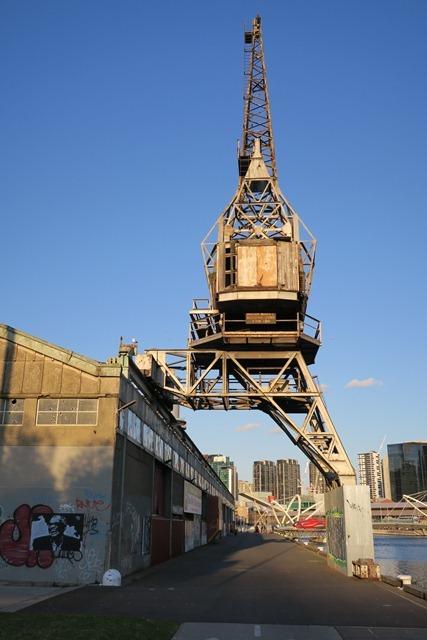 Malcolm Moore crane at North Wharf