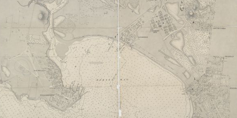 Chart of Hobson's Bay by H L Cox (1864)