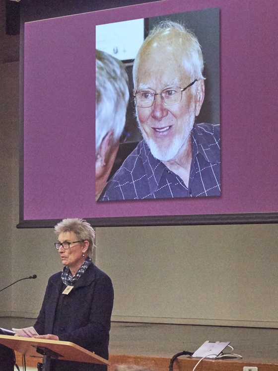 Janet Bolitho pays tribute to PMHPS past-President, Graham Bride.