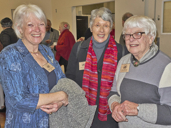 Christine Griffiths, Alison Rowlands and Margaret Bride