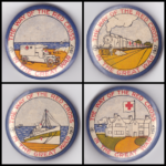 Set of four Fundraising Badges (Buttons) from 1917. PMHPS Collection.