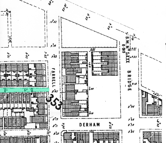 Cambridge Street (highlighted). MMBW Map, 1894