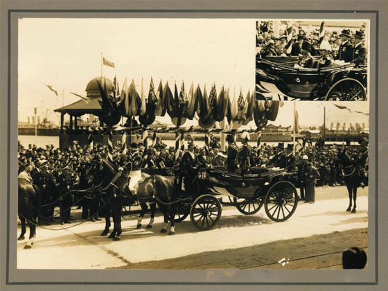 Official welcome of Prince Henry, Duke of Gloucester at Port Melbourne in 1934. PMHPS Collection